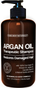 Argan Oil Shampoo Restores Damaged Hair - Argan Oil for Hair, Increases Shine and Deeply Nourishes - Safe for All Hair Types and Colour Treated Hair - 470ml Bottle with Pump