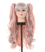 Diforbeauty Lolita Synthetic Hair Cosplay Wigs Long Curly with Two Claws/jaws Ponytail Extensions