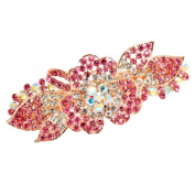 New Popular Fashion Hair Accessories Bling Crystal Hair Decoration-03Pink