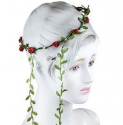 Luckystaryuan ® Bridal Flower Wreath Tassel Wedding Headband