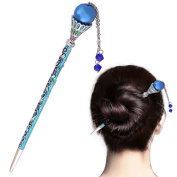 LiveZone 9527 Creative Tassels Alloy Crystal Hair Ornaments Decor Accessories Women Girls Hair Stick Pin Hairpin for Long Hair