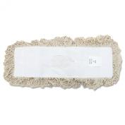 UNISAN Industrial Dust Mop Head, Hygrade Cotton, 18 Width x 5 Depth, White