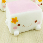 Generic Soft Squishy Chinese Tofu Adorable Expression Smile Face Fun Toy