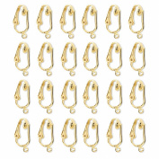 Gold or Silver Clip Earring Converter Kit-24 Pair Clip Earring Supplies to Turn Pierced to Clip-ons