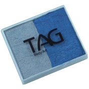 TAG 2 Colour Split Cake - Pearl Blue and Pearl Silver