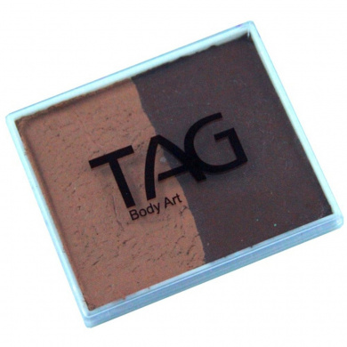 TAG 2 Colour Split Cake - Mid Brown and Brown (50 gm)