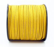 GOLDEN YELLOW 3mm x 1.5mm Faux Suede Cord Leather Lace Bracelet Necklace Making