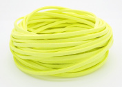 NEON YELLOW 3mm x 1.5mm Faux Suede Cord Leather Lace Bracelet Necklace Making