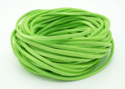 LIME GREEN 3mm x 1.5mm Faux Suede Cord Leather Lace Bracelet Necklace Making