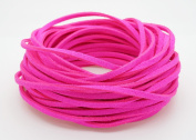NEON PINK 3mm x 1.5mm Faux Suede Cord Leather Lace Bracelet Necklace Making