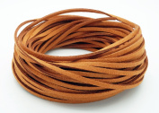 CAMEL BROWN 3mm x 1.5mm Faux Suede Cord Leather Lace Bracelet Necklace Making
