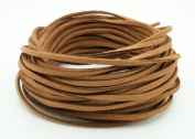 PERU BROWN 3mm x 1.5mm Faux Suede Cord Leather Lace Bracelet Necklace Making
