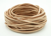 TAN 3mm x 1.5mm Faux Suede Cord Leather Lace Bracelet Necklace Making