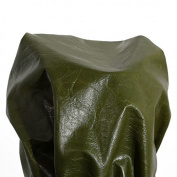NAT Leathers Green Glazed Nappa Soft thin Upholstery Chap Cowhide Genuine Leather Hide Skin 15 to 2sqm by NAT Leathers