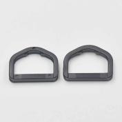"50 PCS Black 1"" 25mm Plastic D Dee Ring For Ribbon Nylon Belt Webbing Buckles Strap Black"