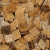 Hakatai Glass Mosaic Tile 1cm - ½ Pound Brown Blend Assortment