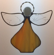 Handcrafted (Orange) Angel Sun Catcher Stained Glass Ornament