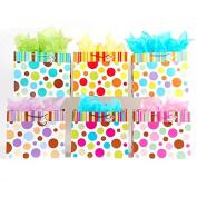 12 Pc Horizontal Jumbo Stripes & Dots on Matte, 6 Designs ...