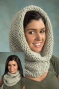 Simple Cowl Knit Kit - Natural-Encore Mega