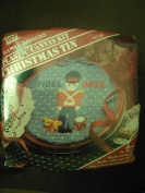 Plastic Canvas Kit Christmas Tin Noel with Date 18cm round