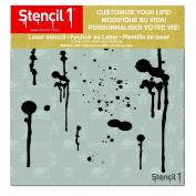Stencil1 Drip Marks Stencil 15cm X 15cm