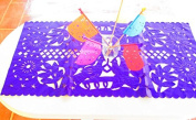 Mexican Wedding Decoration, PURPLE Table Runner, Papel Picado, Fiesta Party, Mexican Style Ceremony, Tissue Paper, Hand-crafted, Birthday Party Kids