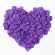 1000pcs Table Confetti Decoration Silk Rose Petals Fabric Artificial Flower Petals Wedding Birthday Party Purple OFFICE-249
