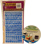 Armour Etch Rub N Etch Alphabet Stencil with How to Etch CD & Patterns