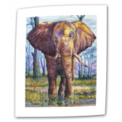 Art Wall Elephant by Dan McDonnell Flat/Rolled Canvas Art with 5.1cm Accent Border, 90cm by 120cm