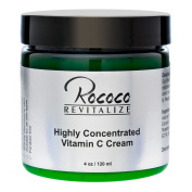 Highly Concentrated Vitamin C Cream with Ester C for Face Skin Minimises Dark Spots and Works As Moisturiser Lotion Too - 120ml 4oz