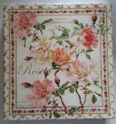 Saponificio Artigianale Fiorentino Roseto 'Rose' Gift Box Soap - 3 Decorative Carved 130ml Bars - Made in Italy