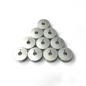 "Cutex Brand 10 Aluminium Slotted ""M"" Bobbins for Tin Lizzie Ansley Gammill Quilting Machine"
