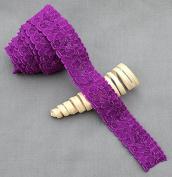 10 Yards Dark Purple Elastic Lace 2.5cm Stretch Lace Elastic Lace Trim Elastic Headband Bridal Garter Baby Hairbow Ties EL056