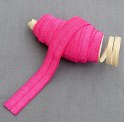 10 Yards Hot Pink 5/8 Fold Over Elastic Shinny Foldover Elastic Cord Elastic Headband Elastic Lace FOE Hair Bow Tie DIY EL019