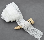 10 Yards White 3.8cm Elastic Lace Lace Elastic Lace Trim Elastic Headband Bridal Garter Baby Hairbow Ties DIY Supplies EL047