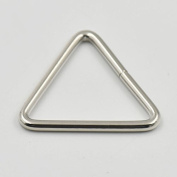 """25 Pcs Metal Triangle Dee Rings for 1.5"""" 38mm Straps Webbing Ribbons Clips Buckles"""