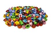 "200pcs 5/32"" (4mm) Hole Mixed Colours Round EYELET Scrapbooking CARD Craft Kit E098"
