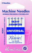 Hemline H100.992 Hvy Universal Ballpoint Machine Needles 5x 80/12 90/14 100/16
