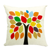 Hflove Geometric Abstract Puzzle Brilliant Colours Cotton Fashion Pillow