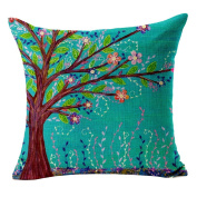 Hflove Children Painted Oil Painting Flowers Garden Plant Cotton Sofa Cushion