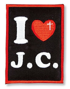 I Love Jesus Chris Embroidered Applique Patch Sticker