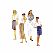 Misses Apron Wrap Skirt McCalls 7000 Sewing Pattern Size 10 - 12 - 14