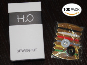 H2O ECO Amenities Embroidery Compact Sewing Kit, Individually Wrapped Paper Box, 100 Boxes per Case
