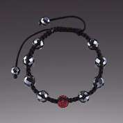 Topaz Crystal Ball with Faceted Hematite Bracelet By Lenox