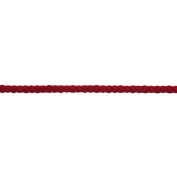 Essential Trimmings ET620/RED| Cotton/Acrylic Braided Cord | 30m x 4mm | Red