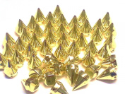 25pcs 25mm Gold Acrylic CONE SPIKES sew on, stitch on, Embellishments