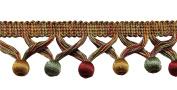 Gold, Wine , Green 4.4cm Ball Fringe Style# BBF0175 Colour