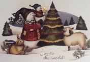 Joy to the World - Impulse Craft Iron on Transfer Snowman Sheep Rabbit