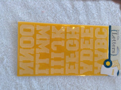 Horizon Iron-On Flocked Yellow Alphabet Letters 3.8cm