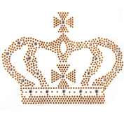 Korea and Handmadet-shirt Clothing Repair Rhinestone Motif Stickers Gold Crown Tattoos Deco 1 Sheets